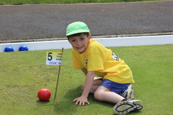 Peter Lloyd (age 8) for his nearest the pin effort in bowls golf