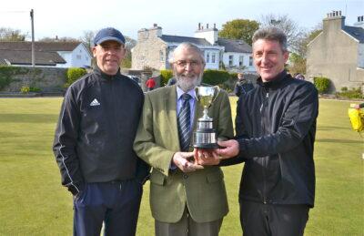 Cringle Fours Winners 2021 - Trevor Quayle & Wayne Robert's with Sponsor Noel Cringle